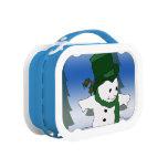 Snowman Skating in Green Yubo Lunch Box