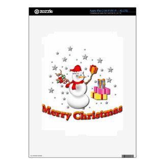 Snowman iPad 3 Decal