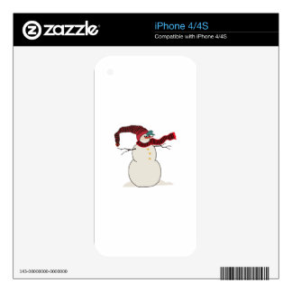 Snowman Skin For The iPhone 4