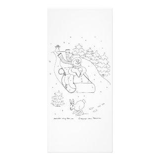 Snowman Sleigh Rack Card