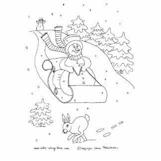 Snowman Sleigh Statuette