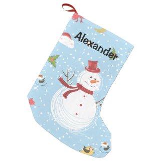 Snowman Small Christmas Stocking