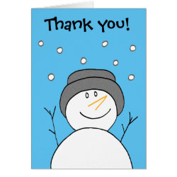 Snowman Smiling Card Thank You