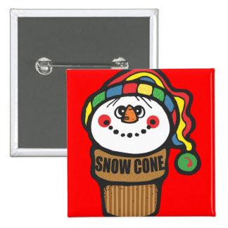 Snowman Snow Cone Pins