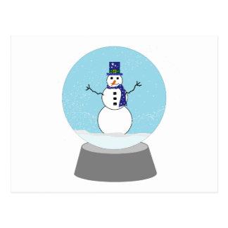Snowman Snow globe Christmas gifts Postcard