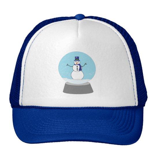 Snowman Snow globe Christmas gifts Trucker Hat