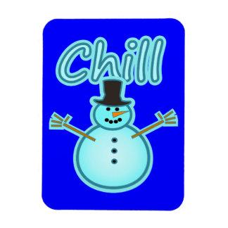 Snowman Snow Man Chill Winter Design Magnet