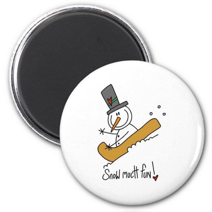 Snowman Snow Much Fun Fridge Magnets