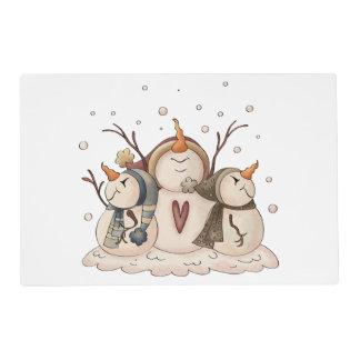 Snowman Snowflake Country Winter Primitive Placemat