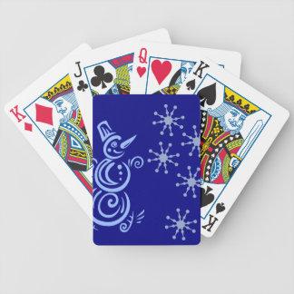 Snowman Snowflake Design Card Deck
