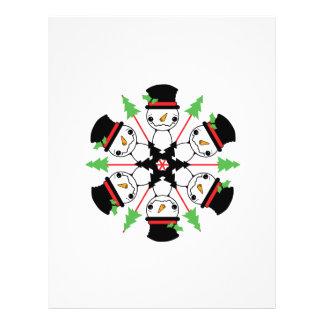 Snowman Snowflake Custom Flyer