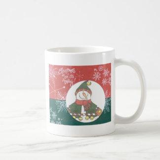 Snowman Snowflakes Christmas Art Design Holiday Coffee Mug