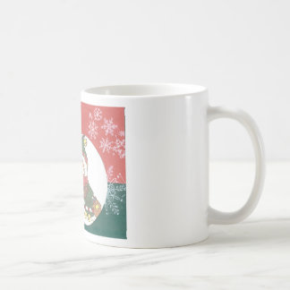 Snowman Snowflakes Christmas Art Design Holiday Coffee Mugs