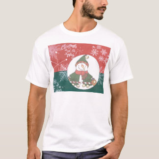 Snowman Snowflakes Christmas Art Design Holiday T-Shirt