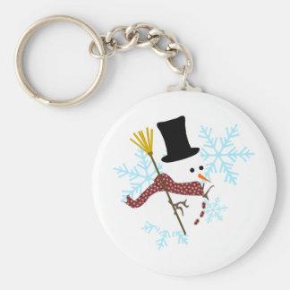 snowman snowflakes keychain
