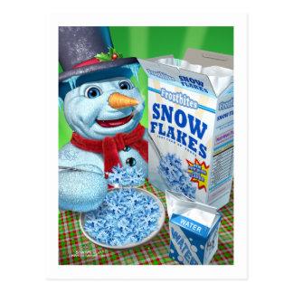 snowman_snowflakes postcards