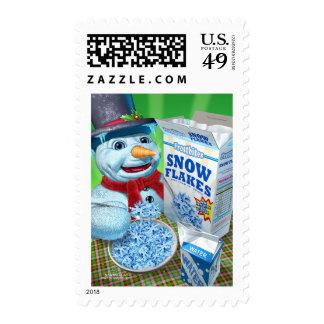 snowman_snowflakes stamp
