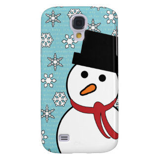 Snowman & Snowflakes Winter Galaxy S4 Case