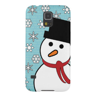 Snowman & Snowflakes Winter Galaxy S5 Case