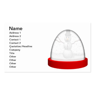Snowman Snowglobe Double-Sided Standard Business Cards (Pack Of 100)