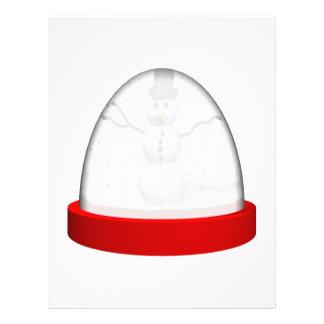 Snowman Snowglobe Flyer Design
