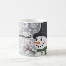 Snowman Snowstorm, Season's Greetings!  ... Magic Mug