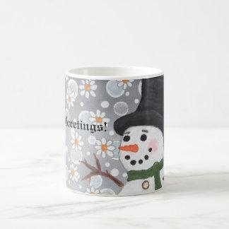 Snowman Snowstorm, Season's Greetings!  ... Magic Mug