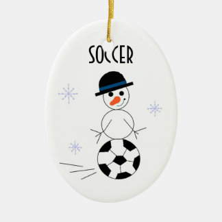 Snowman Soccer Player Ornaments