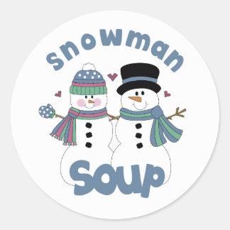 Snowman Soup Label