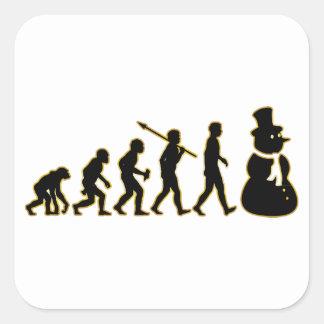 Snowman Square Sticker