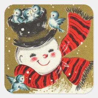 Snowman   Square Stickers