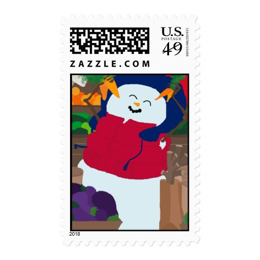 Snowman Stansfield Postage Stamps