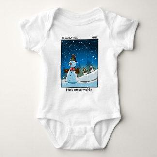 Snowman Steriods Baby Bodysuit