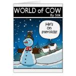 Snowman Steriods Card