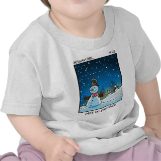 Snowman Steriods Tee Shirts