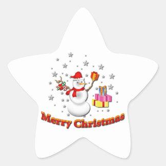 Snowman Star Stickers