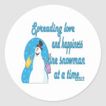 Snowman stickers sticker