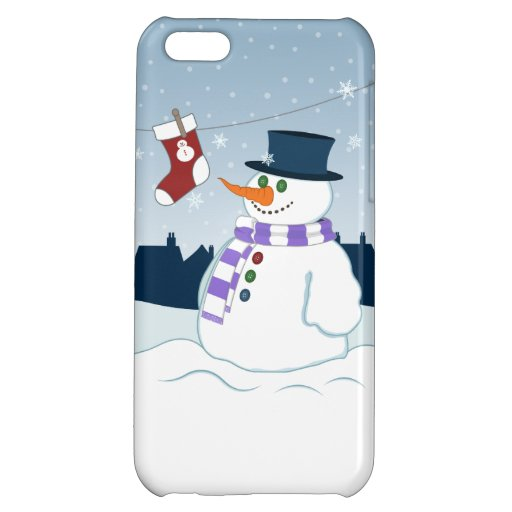 Snowman & Stocking Christmas Case For iPhone 5C