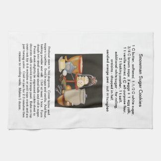 Snowman Sugar Cookie Recipe Kitchen Towel