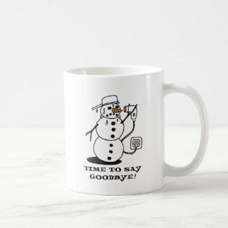snowman suicide coffee mug