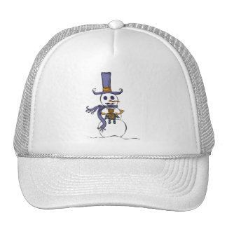 Snowman Teddy Bear Hat