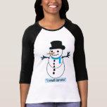 snowman tee shirt