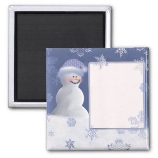 Snowman themed baby shower magnet