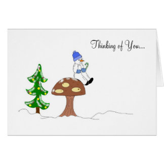 Snowman - Thinking of You... Card