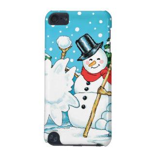 Snowman Throwing a Snowball Winter Fun Splat! iPod Touch (5th Generation) Case