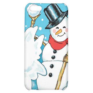 Snowman Throwing a Snowball Winter Fun Splat! iPhone 5C Case