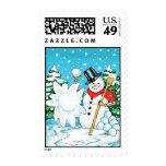 Snowman Throwing a Snowball Winter Fun Splat! Stamps