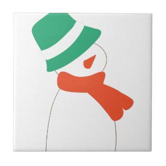 Snowman Small Square Tile