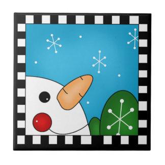 Snowman Tile Trivet