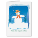 SNOWMAN TIME GREETING CARD